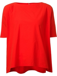 Arts And Science Key Hole Blouse Red