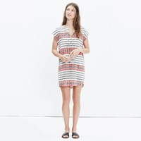 Madewell Catarina Cover Up Tunic In Totem Stripe