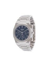 D1 Milano Chronograph 41.5 Mm Watch Silver