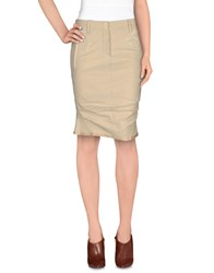 Marithe' F. Girbaud Marithe Francois Girbaud Skirts Knee Length Skirts Women Beige