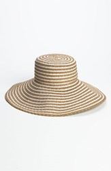 Women's Eric Javits 'Gg Dame Ii' Packable Sun Hat Beige White Mix