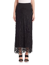 Donna Karan Long Lace Skirt Black