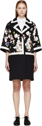 Erdem Black Fassett Wallpaper Oversize Jaidee Coat