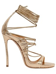 Dsquared 120Mm Elaphe Snakeskin Lace Up Sandals