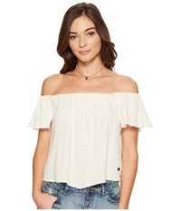 Roxy Princess In The Sea Cold Shoulder Top Marshmallow Women's Clothing Blue