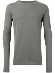 Rick Owens Long Sleeve Sweater Men Cotton S Green