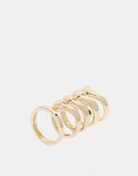 Designsix Hawke Articulated Ring Gold