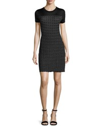 Rag And Bone Gwen Short Sleeve Sweater Dress Black