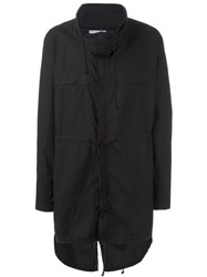 Lost And Found Rooms Logo Print Drawstring Parka Black
