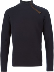 Kolor Zipped Turtle Neck Sweater Blue