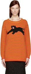 Gucci Yellow And Red Striped Puma Sweater
