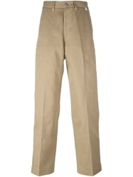 Facetasm Mid Rise Loose Fit Trousers Nude And Neutrals