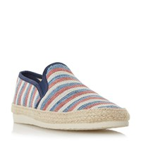 Dune Funfair Striped Canvas Espadrille Shoe Red