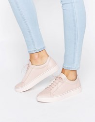 Vagabond Zoe Pink Colour Drenched Leather Trainers 59 Milkshake