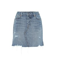 Grlfrnd The Blaire High Rise Denim Miniskirt Blue