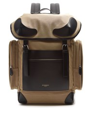Givenchy Canvas And Leather Backpack Brown Multi