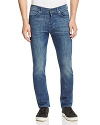 7 For All Mankind Rhigby Skinny Straight Jeans In Medium Wash Compare At 215