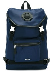 Versus Strap Fastening Backpack Blue