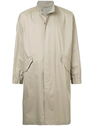 Tomorrowland Band Collar Coat Nude And Neutrals