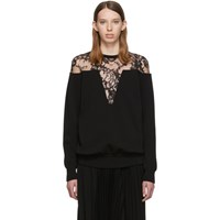 Givenchy Black Lace Trimmed Sweater