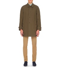 Slowear Single Breasted Trench Coat Olive