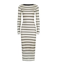 Pinko Striped Long Sleeve Dress Female Black