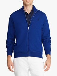 Ralph Lauren Polo Golf By Merino Wool Full Zip Jumper Sporting Royal