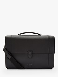 Ted Baker Aggro Leather Briefcase Black