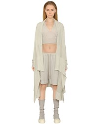 Rick Owens Wrapped Cotton Knit Cardigan