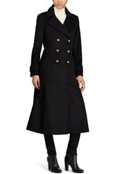 Lauren Ralph Lauren Double Breasted Long Coat Black