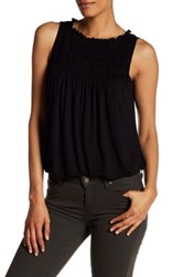 Max Studio Pleat Yoke Bubble Hem Tank Multi