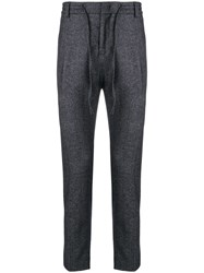Paolo Pecora Drawstring Waist Tailored Trousers Blue