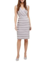 Phase Eight Sadie Textured Surplice Sheath Dress Smoke