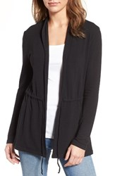 Cupcakes And Cashmere Women's Nero Tie Front Cardigan Black