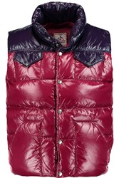 Pyrenex Oisans Quilted Glossed Shell Down Vest Purple