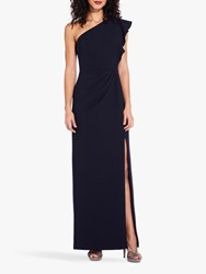 Adrianna Papell Knit Crepe Long Dress Midnight