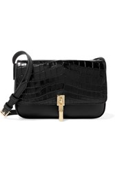 Elizabeth And James Cynnie Micro Croc Effect Leather Shoulder Bag Black
