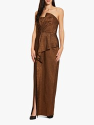 Adrianna Papell Stretch Column Gown Copper