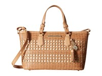 Brahmin Mini Asher Natural Satchel Handbags Beige