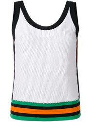 No Ka' Oi Lune Sports Tank Top Women Polyamide Spandex Elastane S White