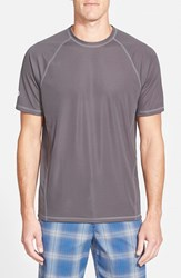 Men's Tommy Bahama 'Sun Chaser' Island Modern Fit Moisture Wicking T Shirt Fog Grey