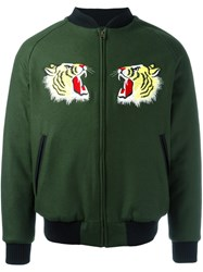 Lc23 Tiger Bomber Jacket Green