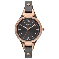 Fossil Women's Georgia Leather Strap Watch Grey