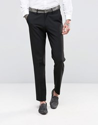 Asos Skinny Suit Trousers With Gold Contrast Detail Gold