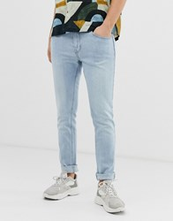 Bershka Skinny Jeans In Light Blue Blue