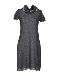 Brebis Noir Short Dresses Steel Grey