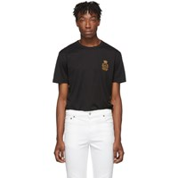 Dolce And Gabbana Black French Wire Crest T Shirt