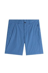 Michael Kors Collection Printed Cotton Chino Shorts Blue