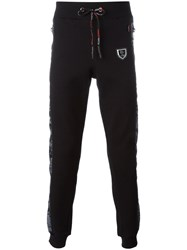Plein Sport Camouflage Print Tracksuit Trousers Black