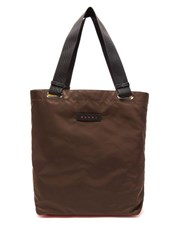 Marni Two Tone Nylon Tote Bag Brown Multi